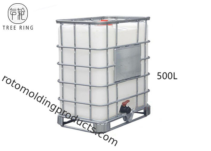 PE 500L Intermediate Bulk Reconditioned Ibc Containers For Chemical Storage Recycling