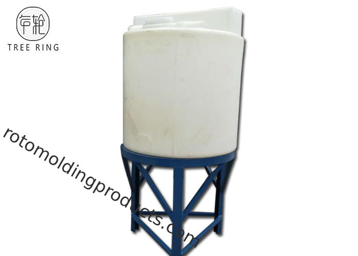 CMC 1000L Round Rotomolding Products , Rinse Water Storage Tanks With Steel Stand
