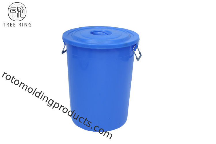100Liter Small Plastic Dustbin With Lid  / Steel Frame Cage And Wheels Red Or Blue