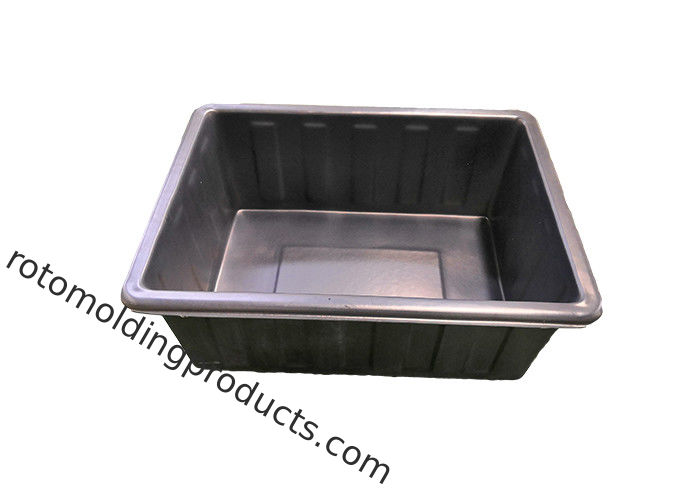 380L Rotomolding Plastic Rectangular Hydroponic Grow Tanks With Growing Bed Stand