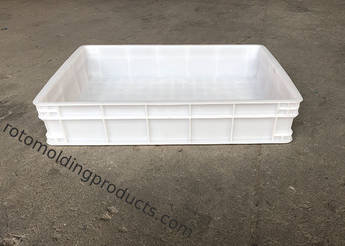 Heavy Duty Euro Stacking Containers White Food Plastic Trays For Freezing Fish
